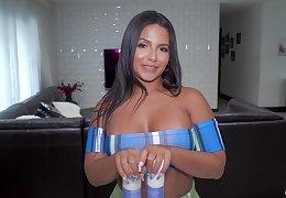 Video of chubby Latina Rose Monroe getting fucked balls deep