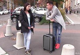 Consumptive Russian murk teen Rebecca Volpetti gets a whacking obese cumshot