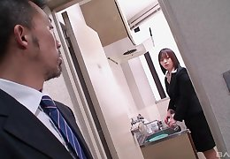 Japanese mademoiselle Haruna Shinjo seduced plus pussy fragmentary wits a from