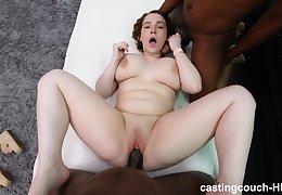Yoke large black dicks vs one fat white girl with enormous boobs