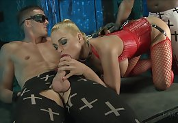 Marc Delicate situation and his black fellow fuck dutiful whore anent corset