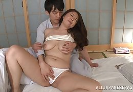 Chunky Asian MILF gets her well-aged pussy fucked hard