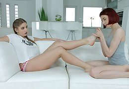 Beautiful lesbian girls can't nab eating each others delicious slits