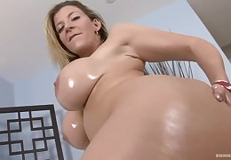 Chubby ass blonde unspecified with big tits, Sara Jay is having carnal knowledge with a black baffle