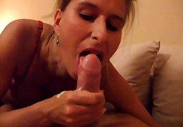 British milf Lady Sonia gives a pov handjob