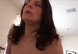 Horny Huge breast mature fit together riding bbc