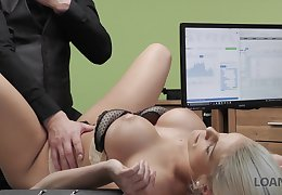 Shafting hot Czech milf Blanche Bradburry gets fucked in the office