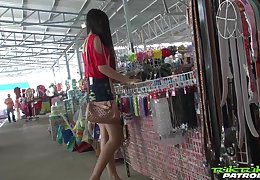 Sex-appeal Filipina girl Bew shows striptease fro one stranger man