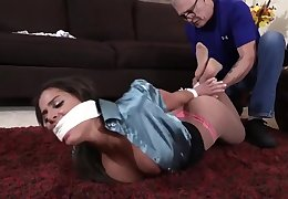 Hot Babe confined up bondage
