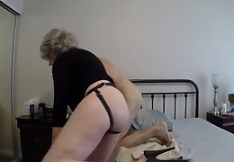 Grannyb Fucks A Unstiffened With A Strapon Increased by More