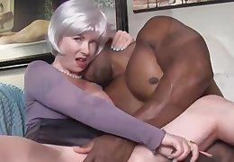 Jet-black Man Fucks Blonde Wife