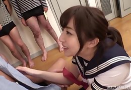 Asian Aizawa Maria gets the brush pussy pounded get ahead the brush team up