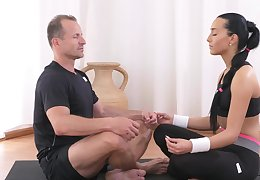Brown tries Yoga but she prefers sex